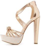 Charlotte Russe Knotted Platform Dress Sandals