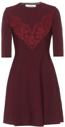 Valentino Lace-trimmed knit minidress