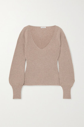 Reformation Hart Ribbed Cashmere And Wool-blend Sweater - Beige