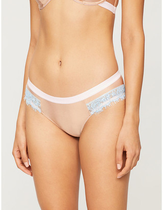 Dora Larsen Ottalie low-rise satin and lace briefs