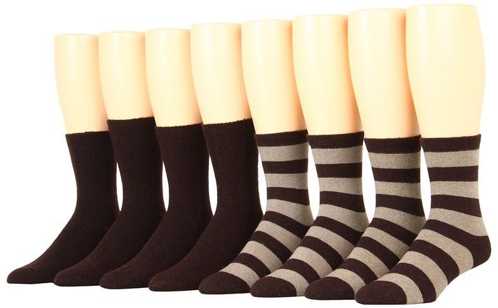 Ecco Socks - Trouser/ Wide Stripe (Brown) - Footwear