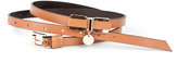 Luana Light Brown Skinny Leather Belt