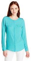 Dockers Women's Petite Georgette Long-Sleeve Shirt