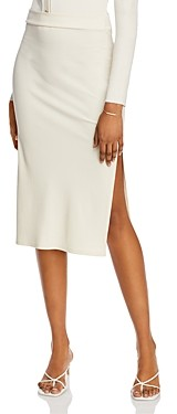 Aqua Side-Slit Midi Skirt - 100% Exclusive