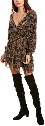 The Kooples Tanger Silk-Blend A-Line Dress