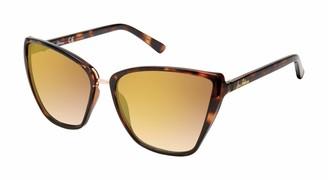 Sam Edelman Women's SE124 Geometric Sunglasses with 100% UV Protection