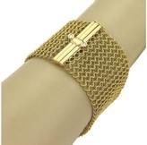 Judith Ripka 18K Yellow Gold Diamonds Mesh Flex Bracelet