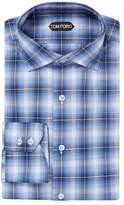 Tom Ford Men's Plaid Cotton Barrel Cuffs Dress Shirt