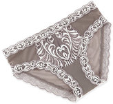 Natori Feathers Hipster Lace Briefs, Black Floral