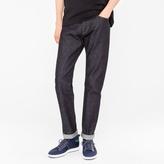 Paul Smith Men's Slim-Standard 13oz 'Unlucky Red Selvedge' Raw Denim Jeans