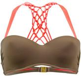 Kiwi Brown and Pink Bra Swimsuit Reversible Bicolore BROWN