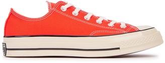 Converse Chuck 70 Orange Canvas Sneakers