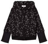 DKNY Black Confetti Print Branded Hoody