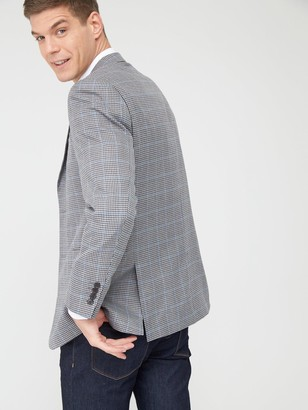 Skopes Classic Moulton Jacket - Grey/Blue Check