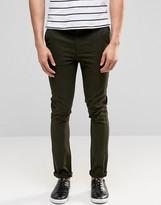 Asos Super Skinny Pants In Khaki