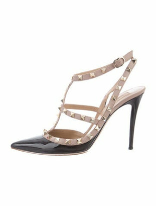 Valentino Patent Leather Rockstud Pumps Black