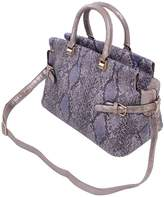 TrendsBlue Premium Snake Skin Print Studded Satchel Tote Shoulder Bag Handbag