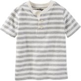 Osh Kosh Milk Stripe Polo Henley - Stripe - 4T