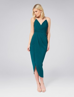 Forever New Charlotte Drape Maxi Dress - Teal Oasis - 4
