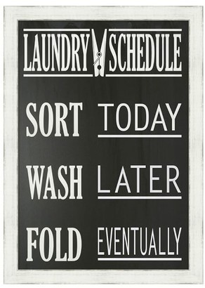 Pottery Barn Laundry Schedule Framed Print