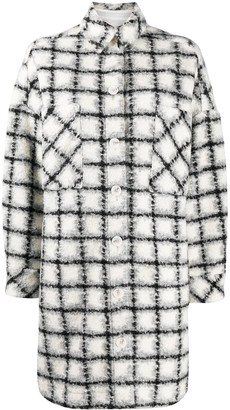 IRO Check Single-Breasted Coat