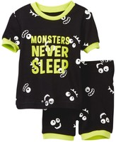 Petit Lem Monsters Never Sleep Pajama - 2-Piece Set (Baby Boys)