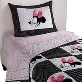 Ethan Allen | Disney Mad About Minnie Mouse Sham, Minnie Pink (Dark Pink), Standard