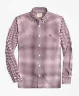 Brooks Brothers Gingham Cotton Broadcloth Sport Shirt