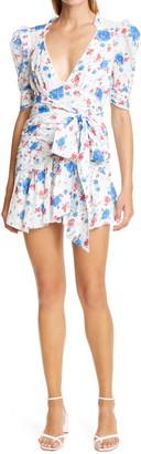 LoveShackFancy Arlo Floral Print Minidress