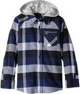 Hurley Hooded Long Sleeve Flannel Boy's Clothing