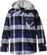 Hurley Hooded Long Sleeve Flannel (Little Kids)
