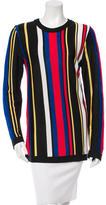 Balmain Striped Semi-Sheer Sweater