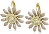Liz Palacios Crystales Opalos Gold-Tone Enameled Flower Earrings