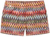 Missoni Slim-fit Mid-length Zigzag-print Swim Shorts