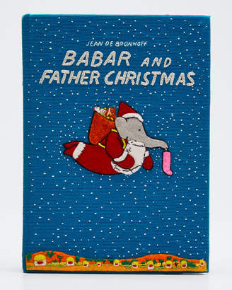 Olympia Le-Tan Olympia Le Tan Babar and Father Christmas Clutch Bag