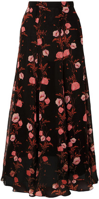 Giambattista Valli Floral-print Silk-georgette Maxi Skirt