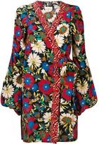 Anjuna floral wrap mini dress
