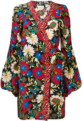 Anjuna Floral Wrap Mini Dress