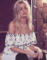 Lipsy Embroidered Bardot Top