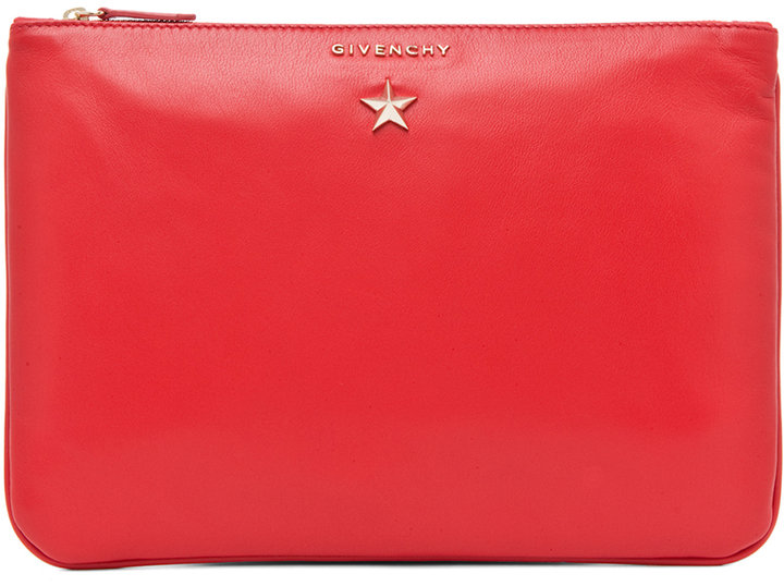 Givenchy Medium Star Pouch in Red