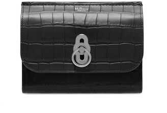 Mulberry Amberley Medium Wallet Black Matte Croc