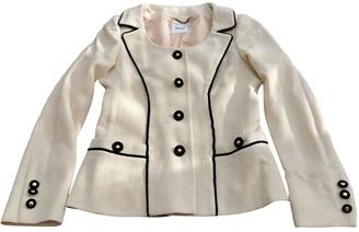 Moschino Ecru Wool Jackets
