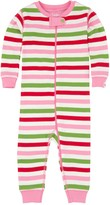 Hatley Pink Holiday Stripes Printed Coverall (Baby Girls)