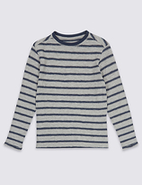 Marks and Spencer Cotton Rich Striped T-Shirt (3-14 Years)