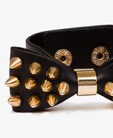 Forever 21 Spiked Bow Bracelet