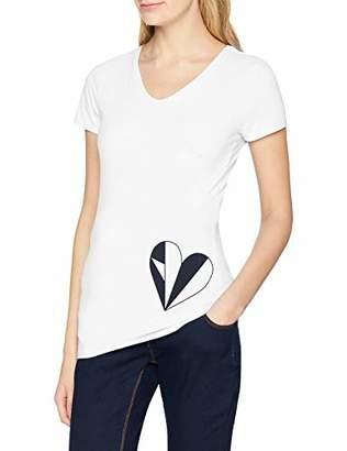 Esprit Women's ss Maternity T-Shirt, (White 110), 8 ('s Size: XS)
