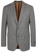 Pal Zileri Grey Checked Wool Suit