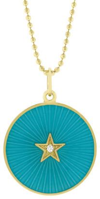Andrea Fohrman Turquoise Enamel Star Necklace