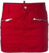 DSQUARED2 zip pocket mini skirt - women - Cotton/Spandex/Elastane/Polyester - 38