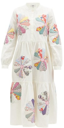 Sea Paloma Floral-patchwork Cotton Dress - White Multi